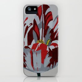 Red & White Tulip iPhone Case