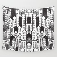 suits Wall Tapestries featuring SPRAWL by Matthew Taylor Wilson