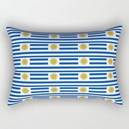 flag of Uruguay-Uruguyan,montevideo,spanish,america,latine,Salto,south america,paysandu,costa,sun Rectangular Pillow