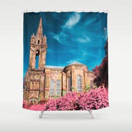 Gothic style chapel Shower Curtain