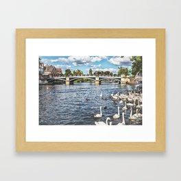 Windsor Town Bridge Framed Art Print