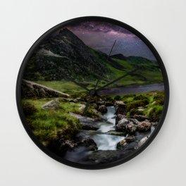 Tryfan by Starlight Wall Clock