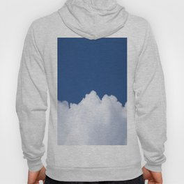 Semi-cloudy Day - Fluffy White Cumulus On The Blue Sky #decor #society6 #buyart Hoody