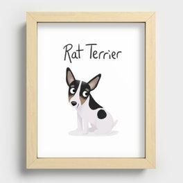 Rat Terrier - Cute Dog Series Recessed Framed Print