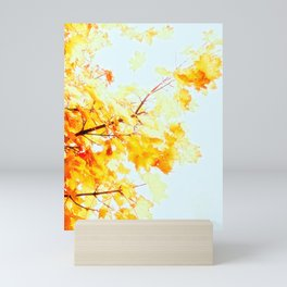 Yellow Maple leaves, Autumn Unfolds Mini Art Print
