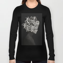 Lady with Birds(portrait) Long Sleeve T-shirt