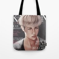 snk Tote Bags featuring SnK Magazine: Jean by emametlo