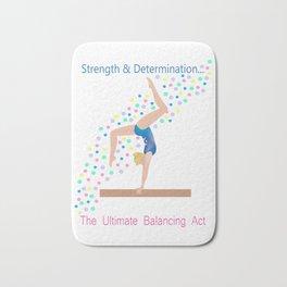 Gymnastics - Ultimate Balancing Act (on Balance Beam) Bath Mat