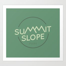 Summit Slope Park Art Print