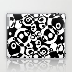 Chaos in black and white Laptop & iPad Skin