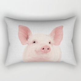 Pig - Colorful Rectangular Pillow