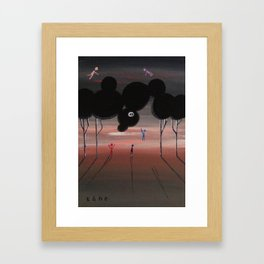 The Splendid Five or Six Find the Centre of the Universe in a Forest's Skull. Framed Art Print