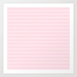 Large Light Soft Pastel Pink Mattress Ticking Stripes Art Print