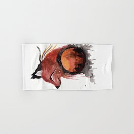 Tetrad the Bloodmoon Fox Hand & Bath Towel