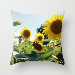 Sunflowers II Throw Pillow
