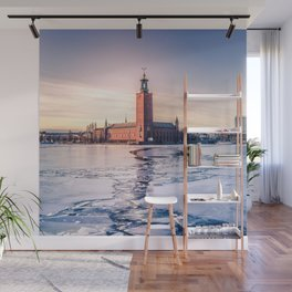 Stockholm City Hall in Winter Wall Mural