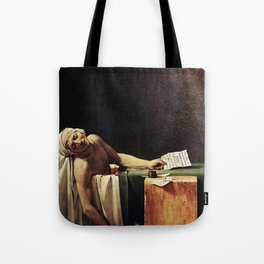 Death of Marat by - Jacques-Louis David Tote Bag