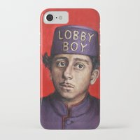 budapest hotel iPhone & iPod Cases featuring Lobby Boy / Grand Budapest Hotel / Wes Anderson by Heather Buchanan