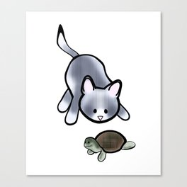 Best Friends: Stewie and Obi Canvas Print