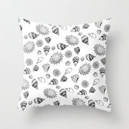 Caracoles Throw Pillow
