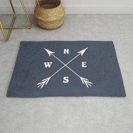 Compass arrows Rug