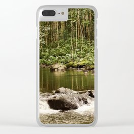 Waipio Valley River Clear iPhone Case