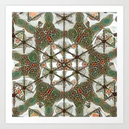 Abstruse Lines Kaleidoscope Art Print