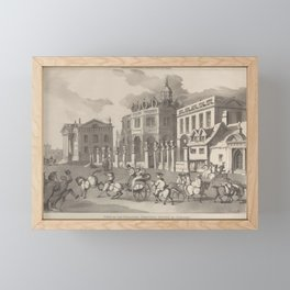 View of the Theatre, Printing House &c. Oxford 1810 . 2 Framed Mini Art Print
