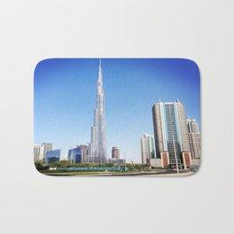 Dubai Burj Khalifa Bath Mat