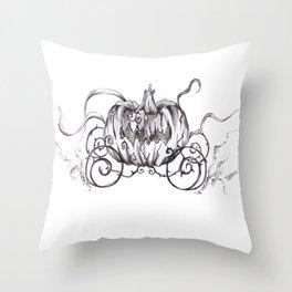 Bibbidi Bobbidi BOO! Inktober Drawing Throw Pillow