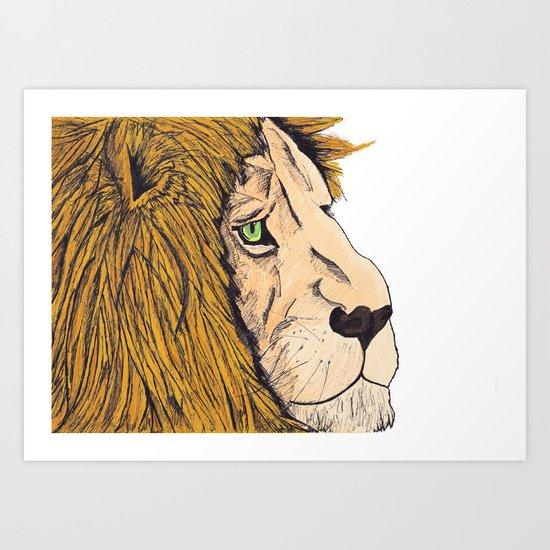 lion (Colour) Art Print