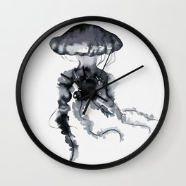 Jellyfish - Ink Wall Clock