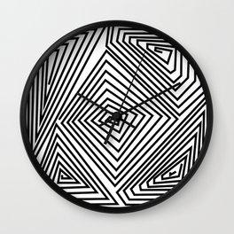 labirint black and wite design Wall Clock