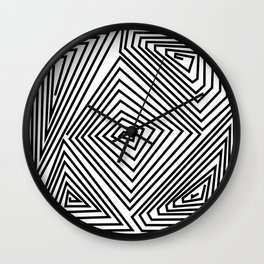 labirint black and wite design Wall Clock