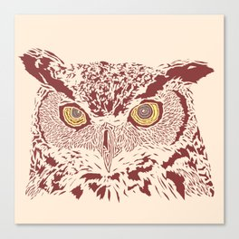 Peering Owl Canvas Print