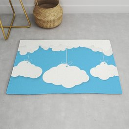 A Cloud Gathering - papercut series - Rug