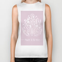 Power to The Pussy (Pink) Biker Tank