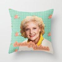 golden girls Throw Pillows featuring Golden Girls - Rose by courtneeeee