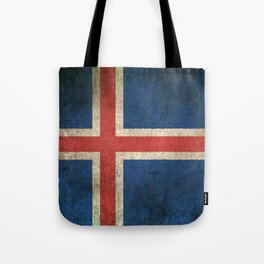 Old and Worn Distressed Vintage Flag of Iceland Tote Bag