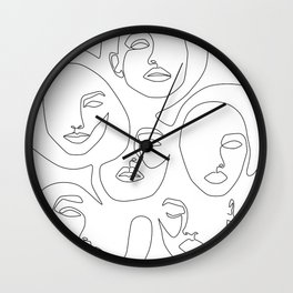 Her and Her Wall Clock