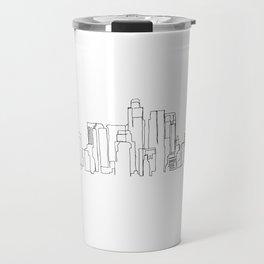 Los Angeles Skyline Drawing Travel Mug