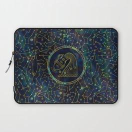 Aquarius Zodiac Gold Abalone on Constellation Laptop Sleeve