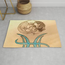 Pices Ying Yang Rug