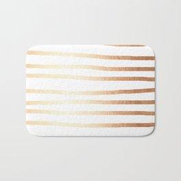 Simply Drawn Stripes Deep Bronze Amber Bath Mat