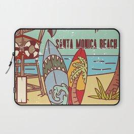 The Best Surfing – Santa Monica Beach Laptop Sleeve