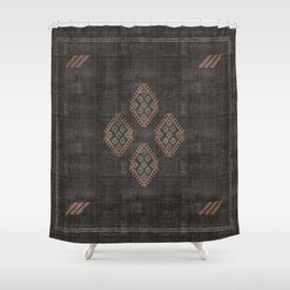 Kilim in Black and Pink Shower Curtain
