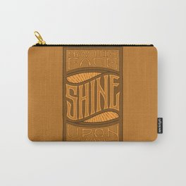 SHINE UPON YOU - Handlettering Verse Carry-All Pouch
