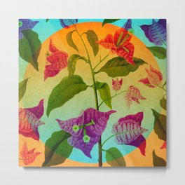 Bright Botanical Metal Print