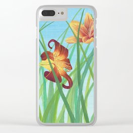 Lilly Garden Clear iPhone Case