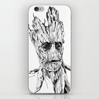 groot iPhone & iPod Skins featuring Groot by Giorgia Ruggeri